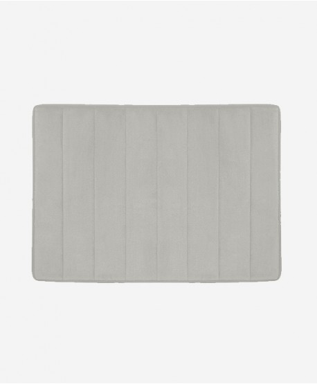 Slim Griptex Foam Bath Mat 17x24 Bath Mat (Grey)